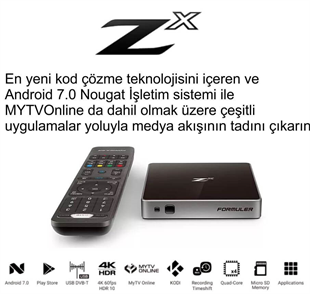 FormulerFormuler Uydu AlıcılarıFormuler Zx Andorid 4K Smart Media Player